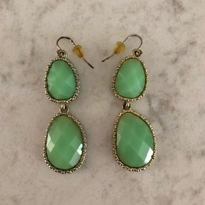 Jewelry - Aqua & Gold Earrings